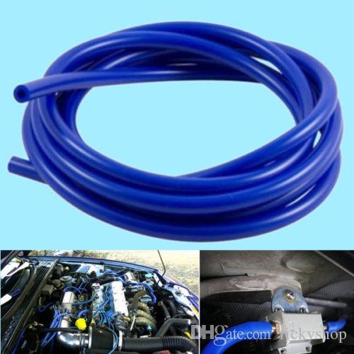 Araba Motoru 4mm Silikon Vakum Tüp Hortum Silikon Boru 16.4ft 5 Metre Mavi Kiti