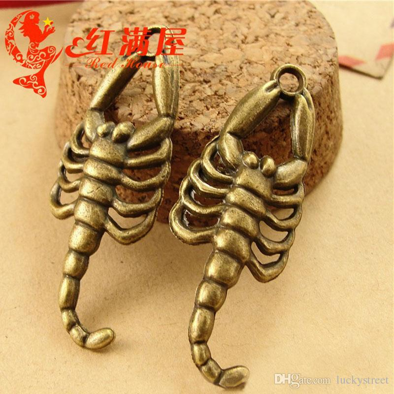A3695 16*42MM Antique Bronze animal shaped Jewelry accessories wholesale scorpion pendant charm alloy parts, animal charm for bracelet
