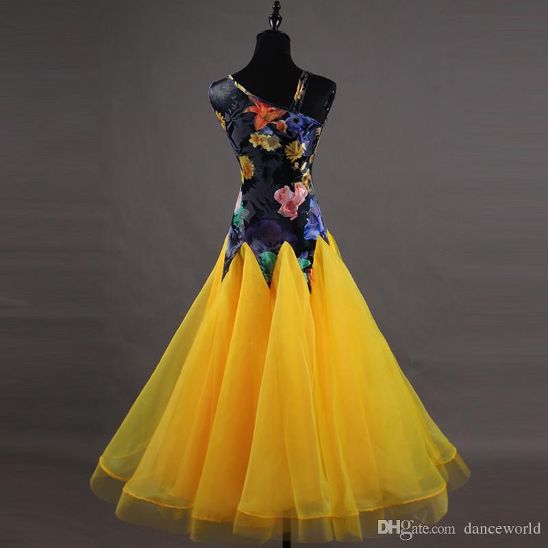 Vestidos de baile de salón de baile personalizados Vestido De Formatura Vestido de salón de baile estándar Vestido de baile de competencia de baile de Vestidos De Festas