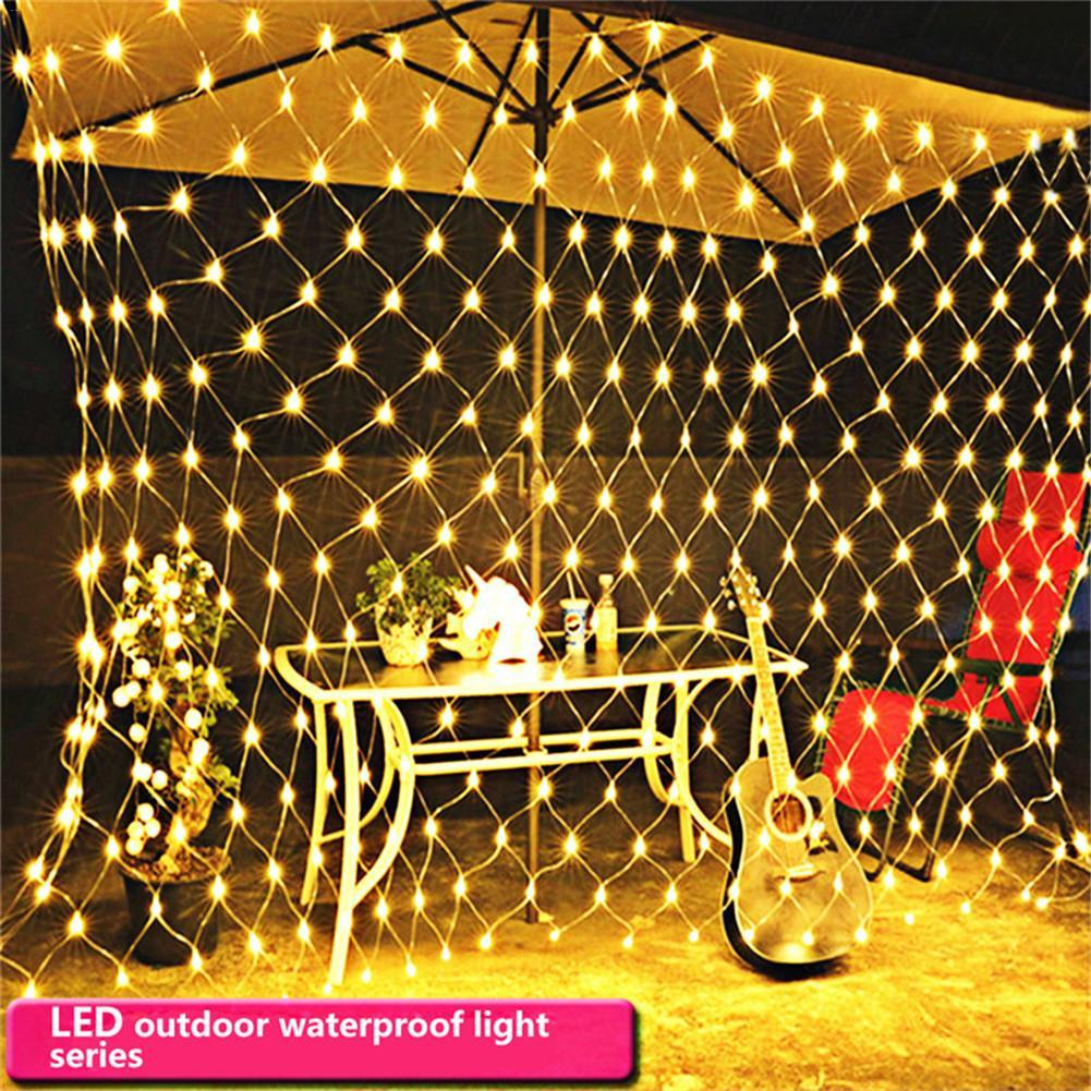 1515m 96 led string lights net christmas lights fishing net outdoor waterproof and decorative wedding 220v eu plug rgb led light strip battery operated