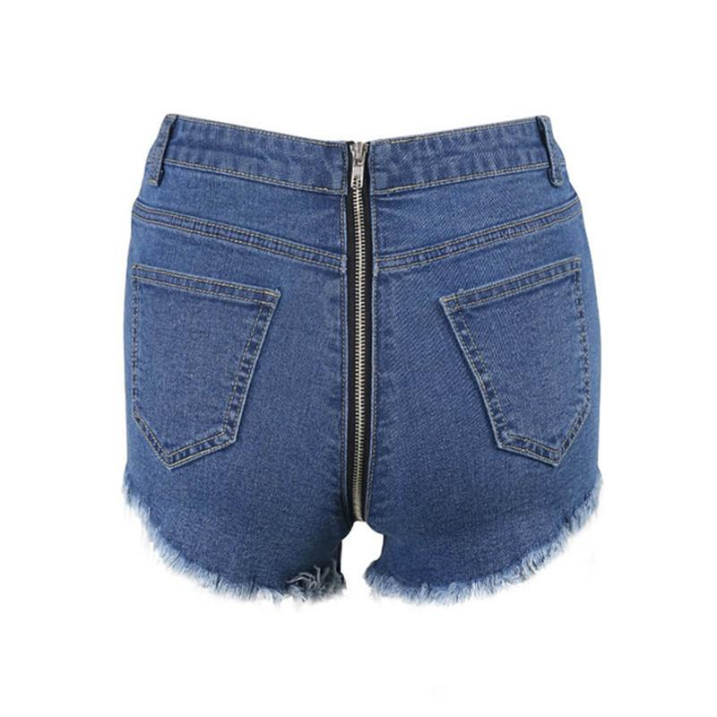 2019 WannaThis Ripped Denim Shorts Women Blue Back Zipper Jeans Frayed Mini  Classic Blue Color Jeans Pocket Sexy Summer Vintage Shorts From Netecool 829fe7f7d
