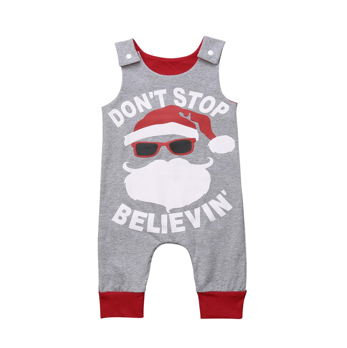 7114b1dfa2f 2019 Christmas Baby Girl Boy Romper Jumpsuit Playsuit Santa Claus Sleeveless  Cotton Toddlers Newborn Baby Clothing Y18102907 From Gou07