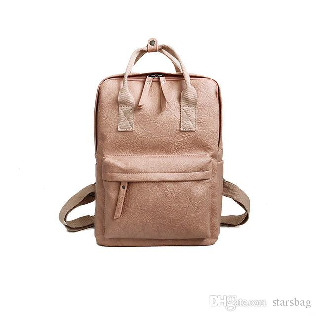 d54e1e1faa Women Leather Backpack Female Teenage Girls School Backpacks Vintage Large  Multifunction Mochila Solid Shoulder Bag Q-190 Women Leather Backpack Girls  ...