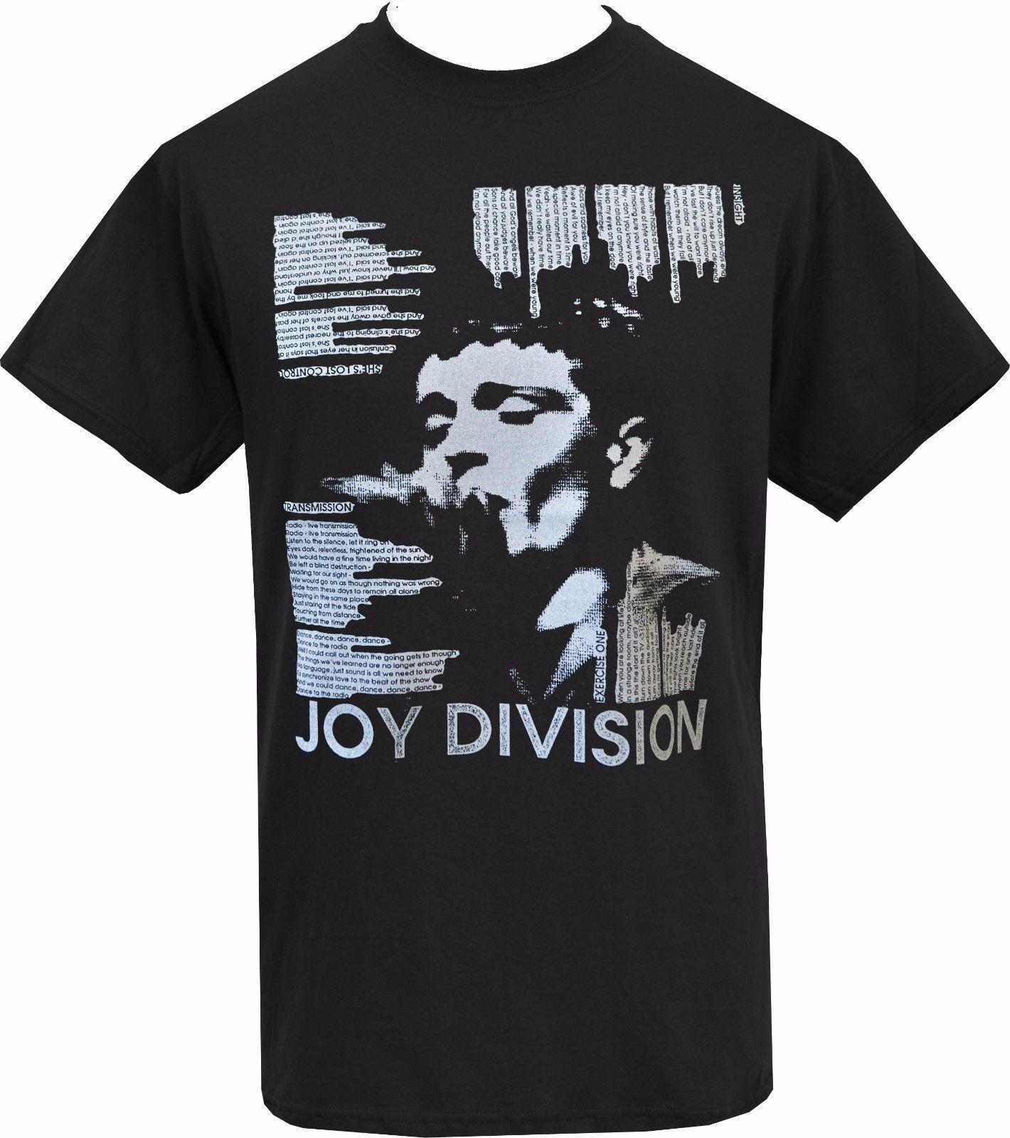 46166b9e0a MENS BLACK T SHIRT JOY DIVISION LYRICS IAN CURTIS POST PUNK ROCK CONTROL S  5XL Cool Tshirt Designs Create T Shirt From Sevenshopping, $11.01|  DHgate.Com