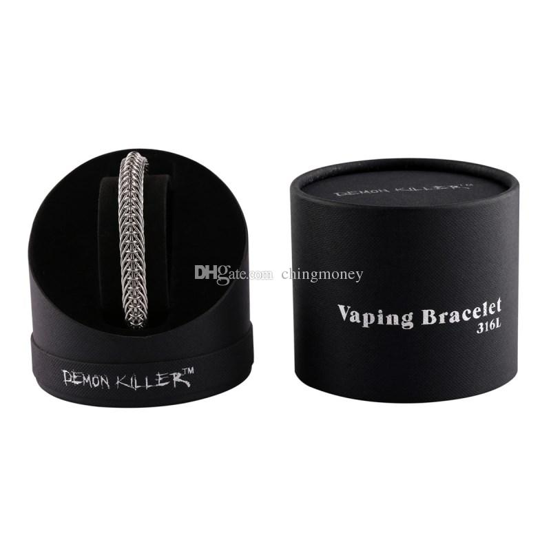 Demone Killer Vaper Bracelet Awesome Electronic Sigaretta Accessori Best Cool Design fit Vaping 316 L Argento Colore 100% Handmade DHL Free