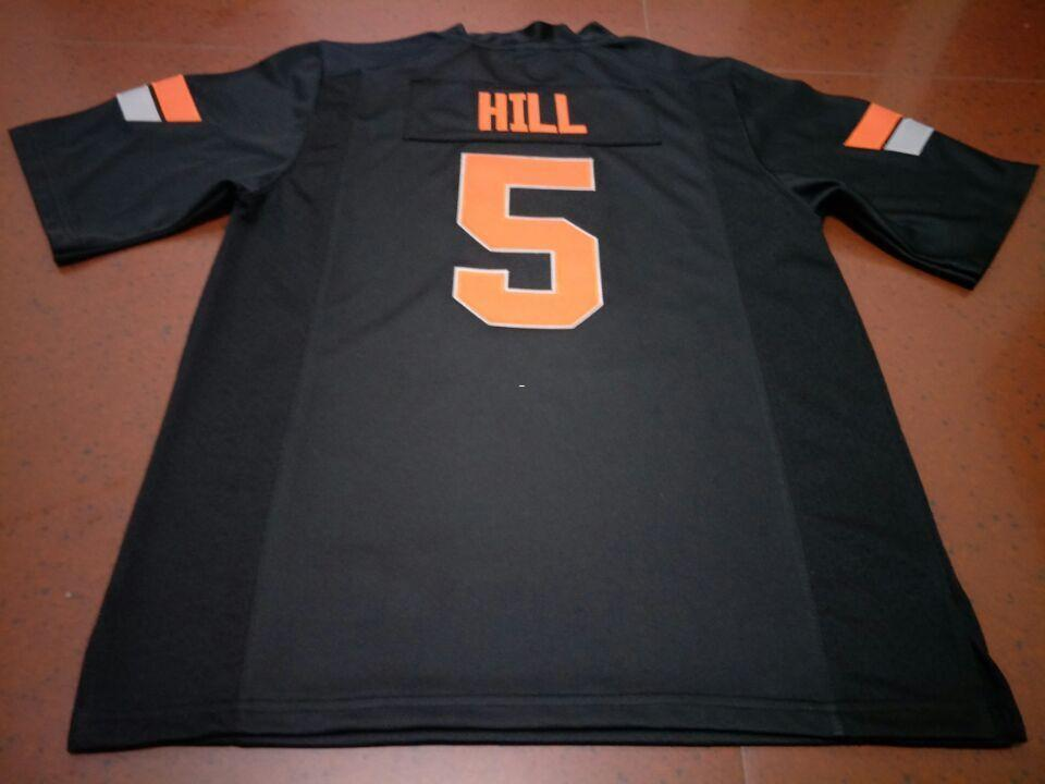 Men Oklahoma State Cowboys  5 Black Orange Justice Hill Alumni College  Jersey SIZE S 4XL Or Custom Any Name Or Number Jersey UK 2019 From Ttl123 aa260bbde