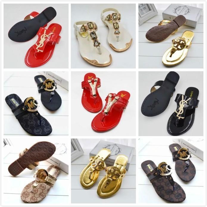930e21b508b3 Mkk Brand Wonen Sandals Flip-flops Sandals Slide Striped Sandals With  Rubber Sole With Web Rubber Strap Shoes Women Fashion Indoor Flip Flop Online  with ...