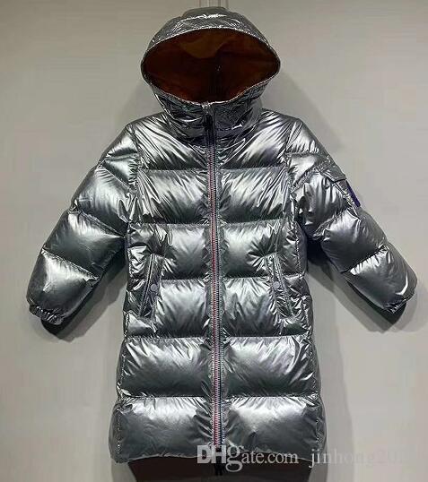90161ca2ae Piumino per bambini ragazzo lungo tratto nuovi abiti invernali argento  Mengjiakou grandi bambini ragazze bambino ispessimento 1 PZ