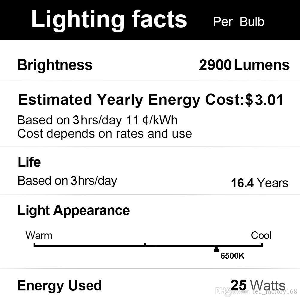 Super Bright Corn LED Light Bulbs 50W500W Equivalent6500K Daylight 5500Lumens Large Area Lighting Garage Warehouse Factory Office Barn Str
