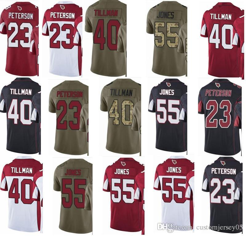 889fd0cca CARDINALS  23 Adrian Peterson  55 Chandler Jones  40 Pat Tillman Men Women  Youth Vapor Untouchable 2017 Salute to Service Football Jersey Jerseys  Jerseys ...