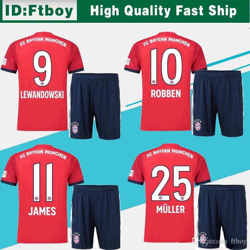 8673d534 Bayern Munich Home Soccer Jersey Suit 18/19 Bayern Munich Red Soccer ...