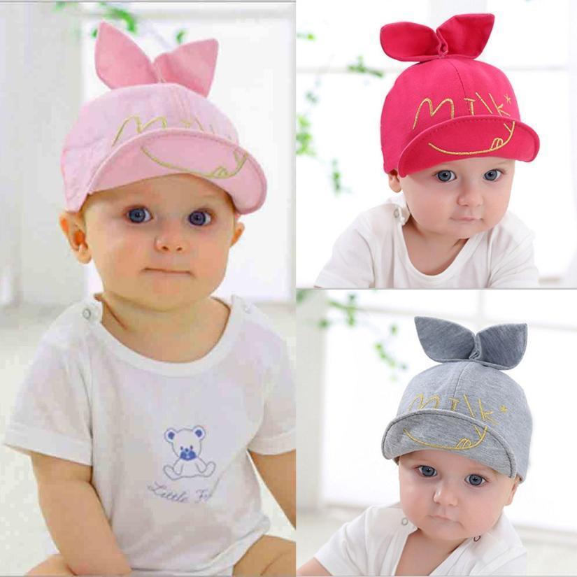 Compre Baby Caps New Girl Boys Cap Sombreros De Verano Bordado Carta ...