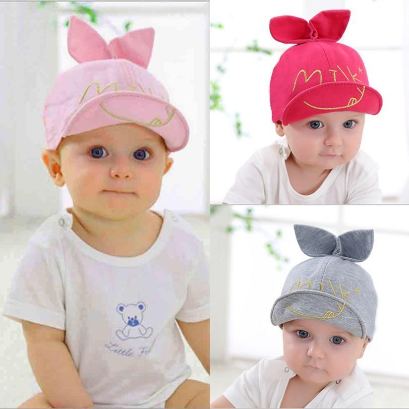 2019 Baby Caps New Girl Boys Cap Summer Hats Embroidery Letter Star 3D Ears  Elastic Hat Cap Baby Girl Hat Spring Accessories From Cover3129 4d5eb7cf030
