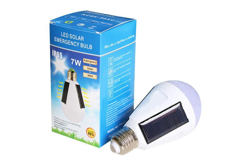 Solar Lamps 7W 12W Rechargeable Emergency Solar Led Bulbs light 85-265V Energy Saving Light LED Intelligent Lamp Solar lighting