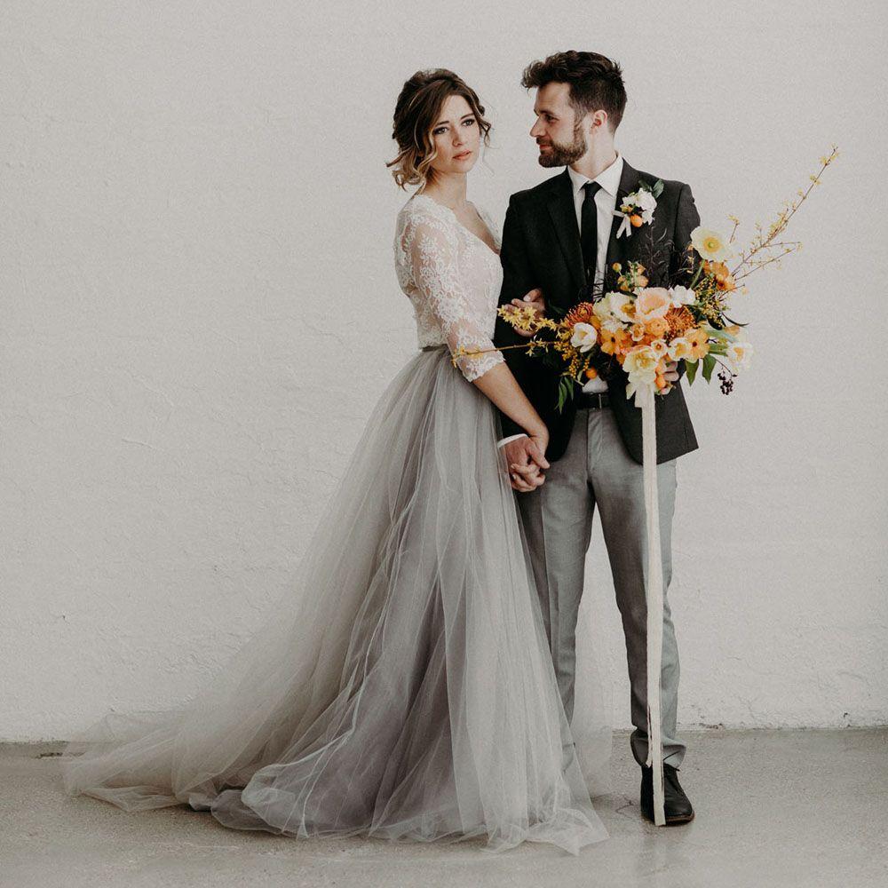 premium selection 3af1e 2cfee Böhmischen 2017 Grau Lange Tüllröcke Für Braut Nach Maß Elegante Tutu Rock  Frauen Reißverschluss Stil Weiblichen Erwachsenen Rock Saia