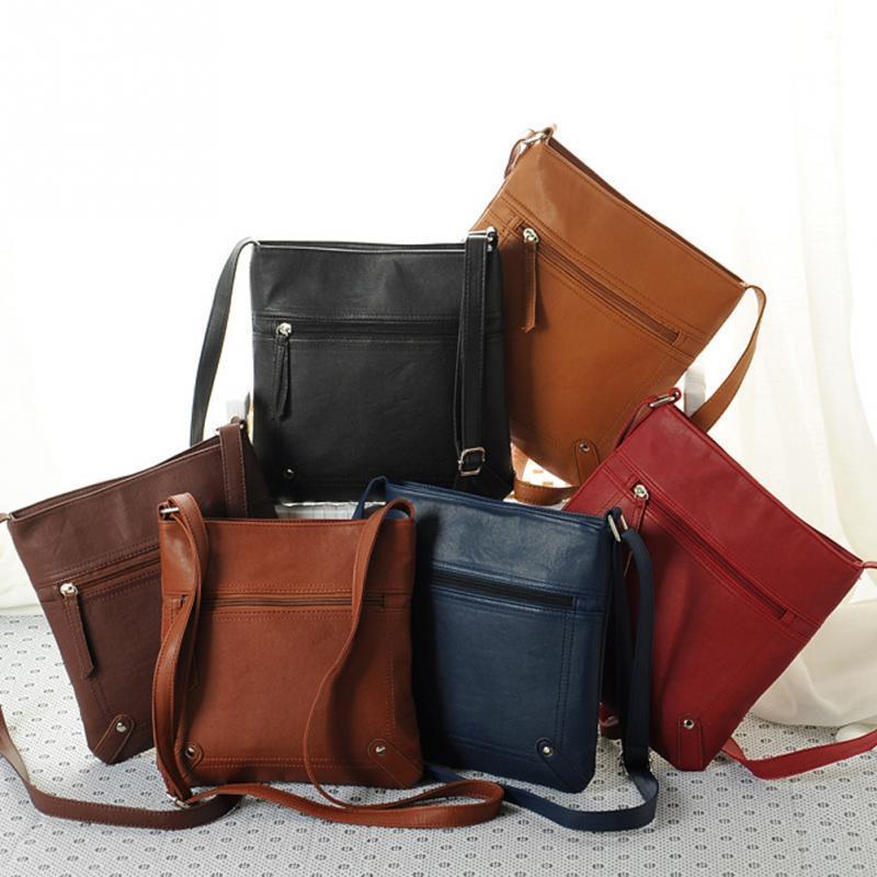 abad66f4490f 2019 Fashion 2018 New Fashion Womens PU Leather Bag New Designers Lady  Satchel Crossbody Shoulder Messenger Bag Handbag Bolsas Femininas Leather  Purse ...