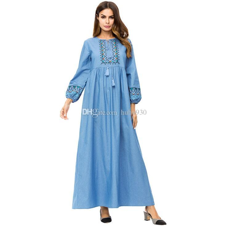492441373214 Women Islamic Clothing Modest Wear Abaya Dress Jillbab Kebaya Muslim Ladies  Long Sleeve Maxi Dress Large Size Dress M 4XL Designer Cocktail Dresses  Vintage ...