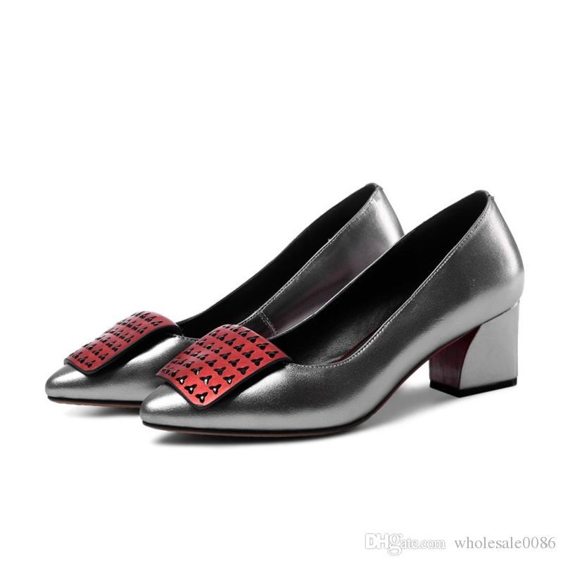 dc9f53bd Compre Zapatos De Tacón Cuadrado Para Mujer Señoras Señaladas Del Partido  Sandalias De Noche Bomba S886 Tamaño EE. UU. 4 10.5 A $44.22 Del  Wholesale0086 ...