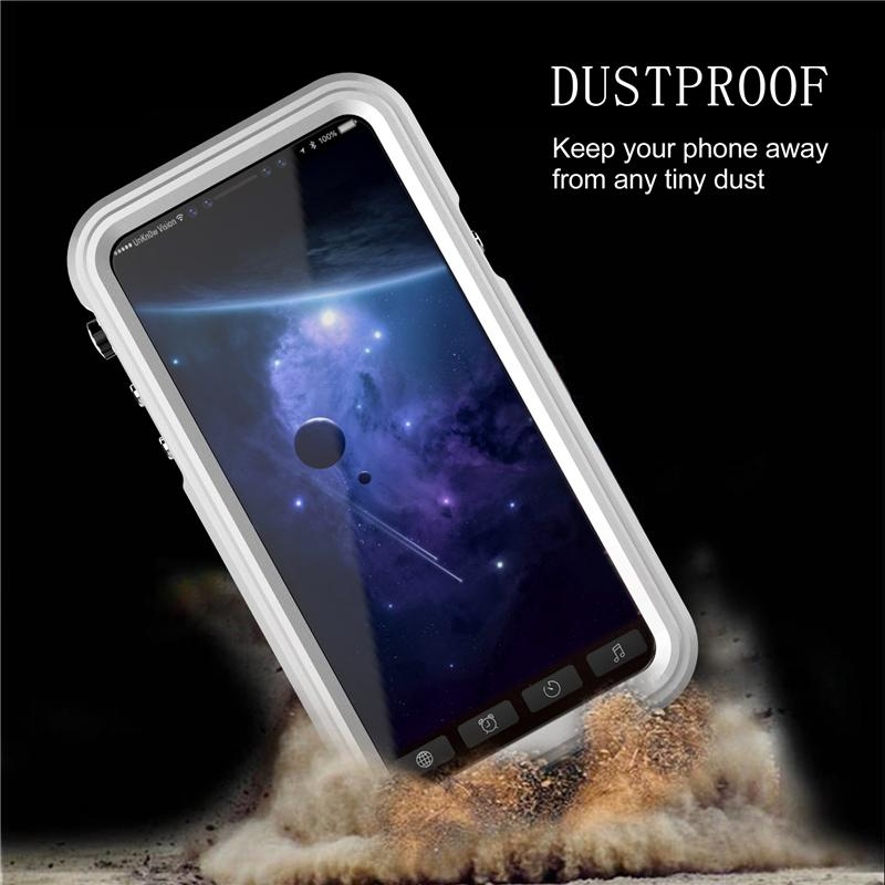 New Arrival IP68 Waterproof Phone Case For iPhone X Metal Case Shockproof Dustproof Diving Cover Heavy Duty Protective Cover for iphone X
