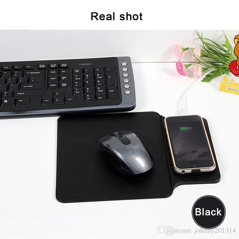 New Fashion Qi Wireless Charger Pad For iPhone 8 X Samsung Note 8 S8 S7 Edge Computer Notebook Mouse Pat Mat Charging Adapter