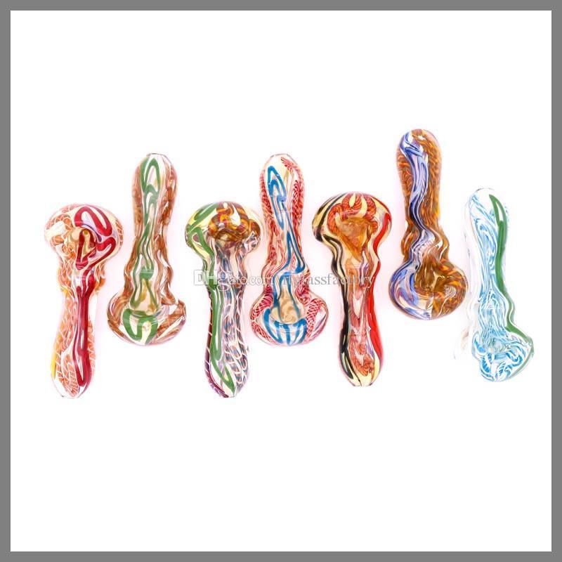 tuberías de la venta caliente de diseño Fabricación de mano de vidrio pipa de fumar de vidrio, tubo teady cuchara 4