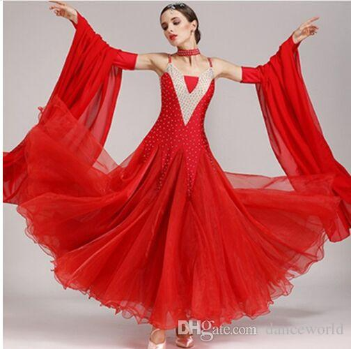 f744f978e 2019 Ballroom Dress Waltz Modern Dance Dress Ballroom Dance Competition  Dresses Standard Ballroom Dancing Clothes Tango Dress Fringe Dancewear From  ...