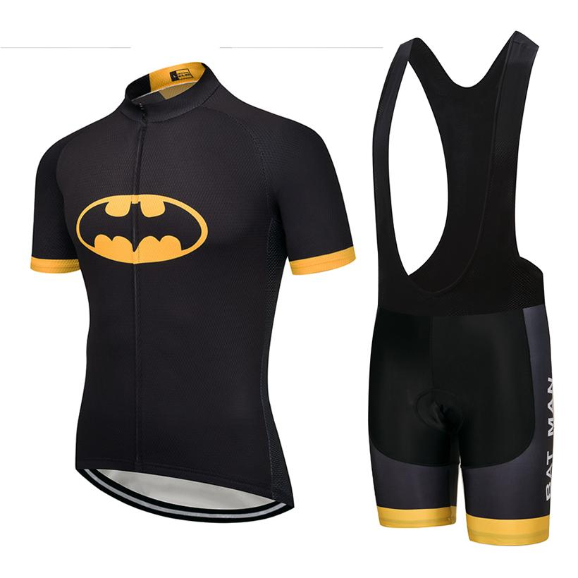2018 Batman Cycling Clothing Bike Jersey Quick Dry Men S Bicycle Clothes  Summer Team Cycling Jerseys Gel Bike Shorts Set Biking Shorts Mountain Bike  Gear ... f03e787d3