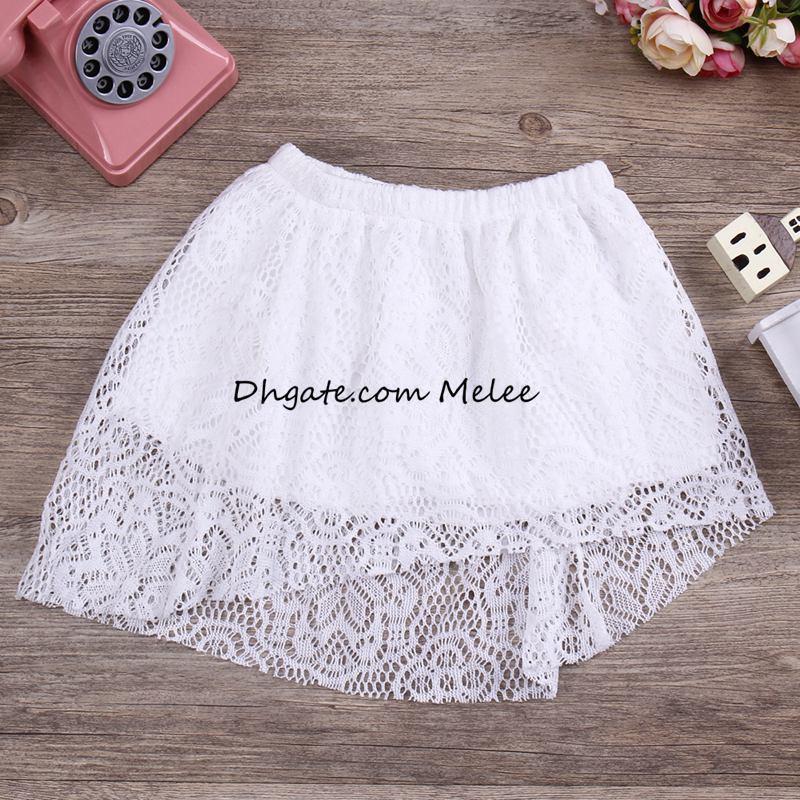 Instrine Mode Summer New Lace Girls Tops Tops Enfants Dentelle Robe Set 1-6Years Filles Princesse Robes Libre