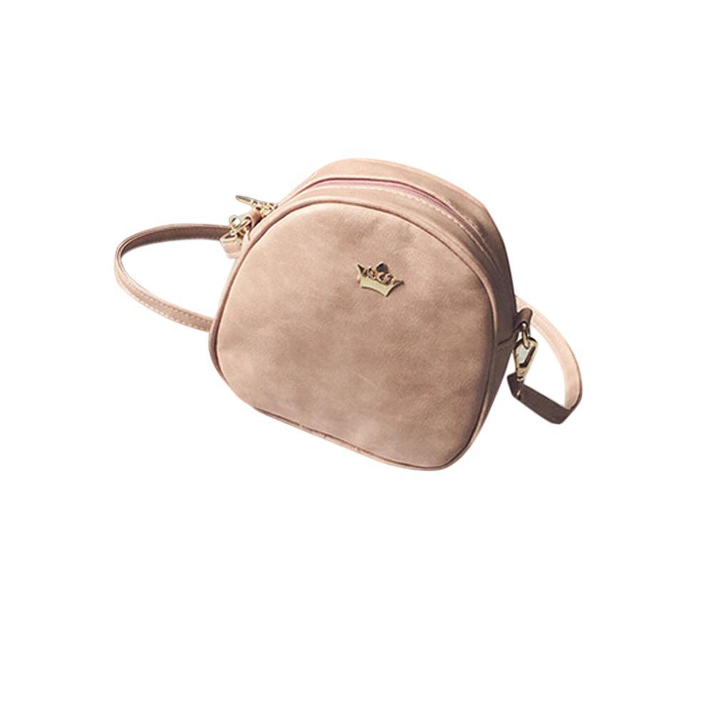 827d9d3c8058 Xiniu Womens Bags Brand 2018 Fashion Women Half Circle Leather Handbag  Cross Body Zipper Crown Shoulder Messenger Bag Crossbody Bags Cheap Crossbody  Bags ...