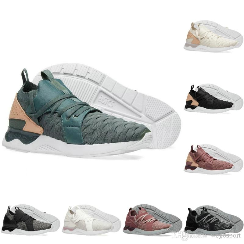 51a09c905cc Acheter 2018 Asics Nouveau Gel Lyte V Sanze Knit 5s Léger Chaussures De  Course Vert Forêt Blé Tricoter Vamp Chaussures Casual Sport Sneakers 36 45  De  94.42 ...