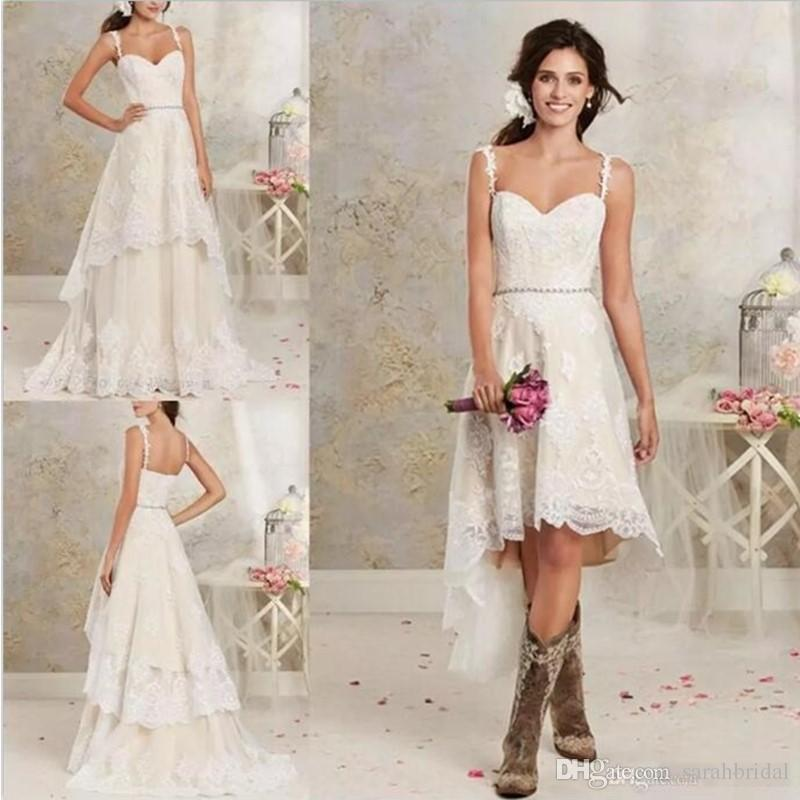 314f04a2d4a Cheap Sparkly White Beach Wedding Dress Discount Fitted Lace Strapped  Wedding Dress