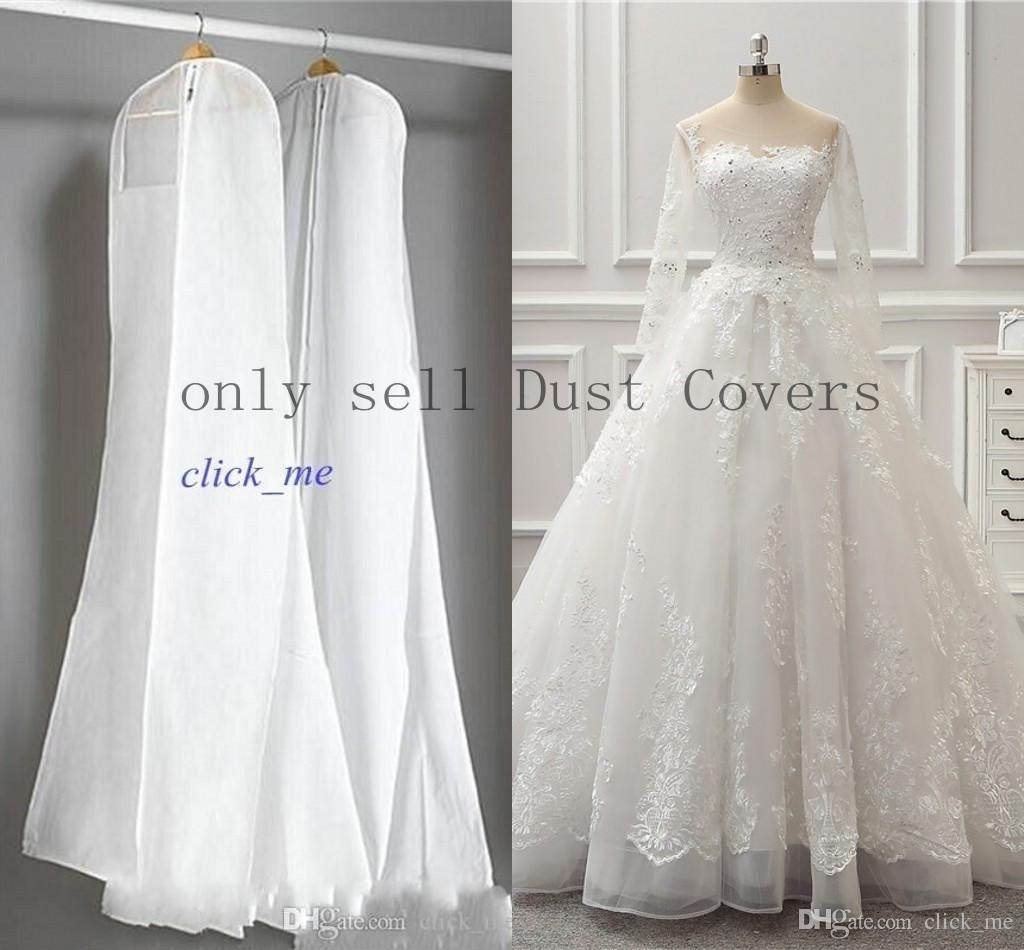 2015 Wedding Dress Gown Bags White Dust Bag Travel Storage Dust ...