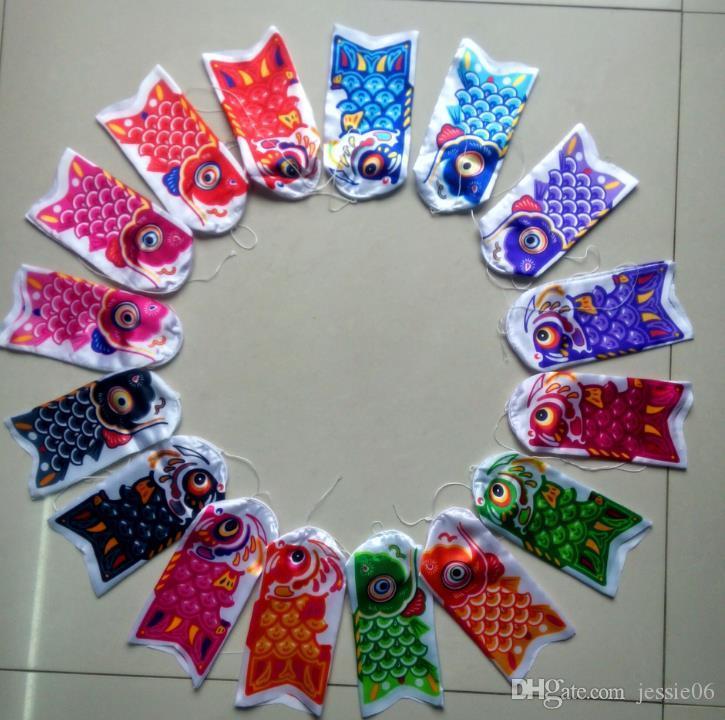 Carpa Peixe Windsock Bandeira apanese Koinbori Koi Nobori Carp Vento Peúga Sock Kite Bandeira Decoração Da Parede 15 cm 20 cm 25 cm decorações Do Partido