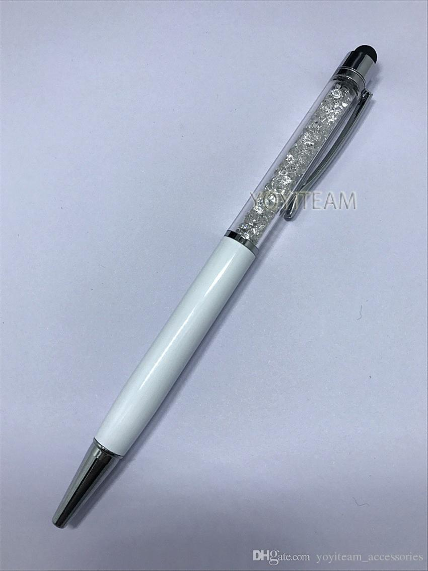 écran tactile et stylo bille combinés avec diamant et couleurs multiples pour smartphone, téléphones portables