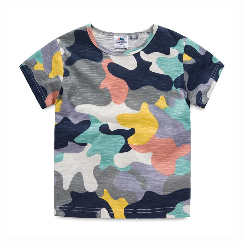 3027d3bb 2019 Baby Boy Camouflage T Shirt 2018 Summer Short Sleeve Tshirt Children '  ;S Clothing Child O Neck Basic Shirt From Sport_xgj, $19.28 | DHgate.Com