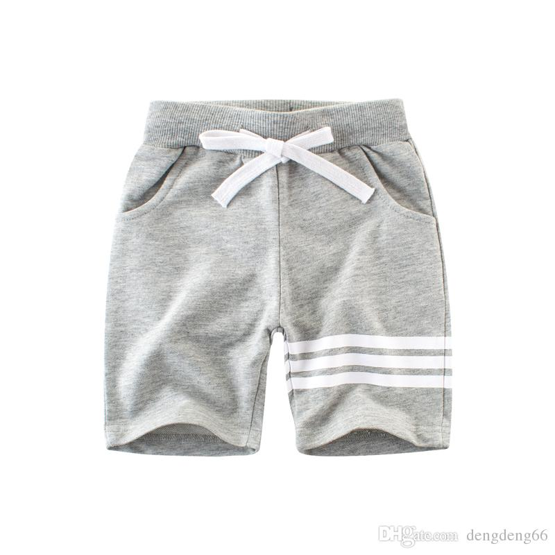 b377392f3621 2018 Fashion Kids Boys Casual Shorts Cotton Breathable Children Knee Length Summer  Short Pants Half Trousers Homewear 2 10 T Girls Brown Shorts Toddler ...