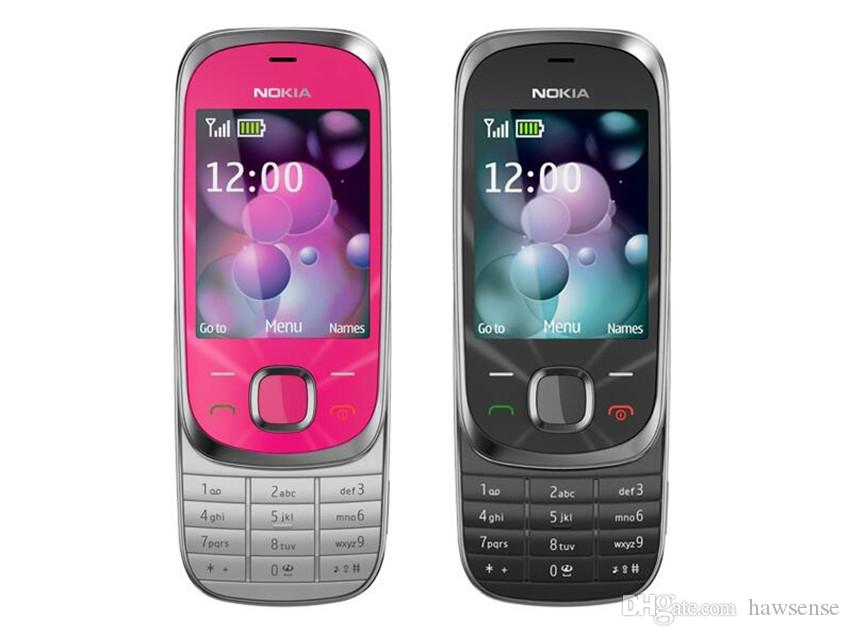 "Refurbished Original Nokia 7230 Slide Mobile 2.4"" Screen 3.15MP Camera Bluetooth FM Cheap Phone Free Post Shipping Sample"