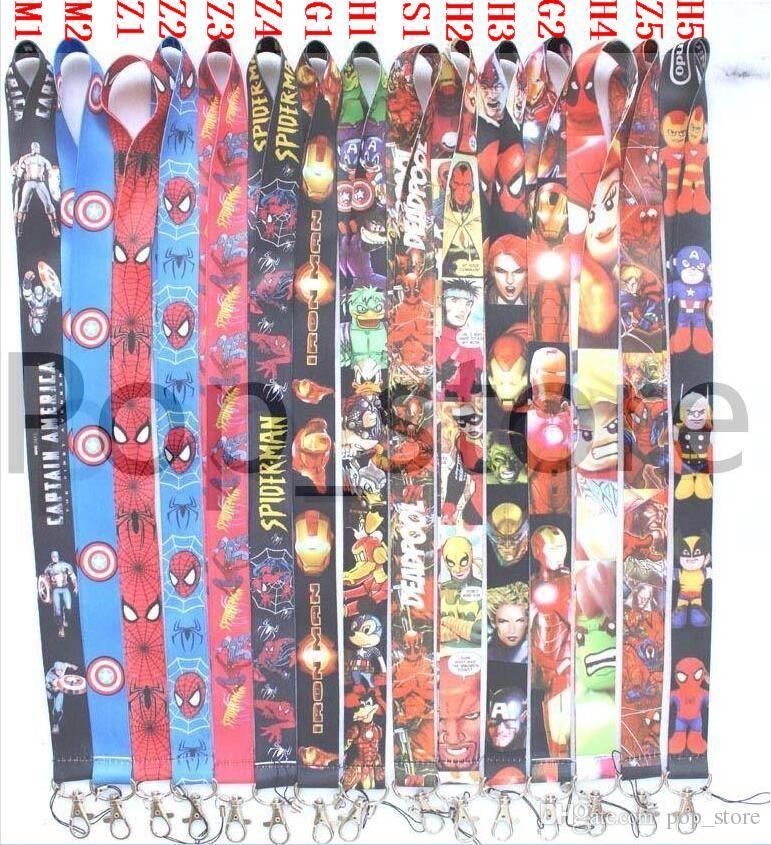 DHL libera el envío - mayorista de Avengers Avengers Avengers Justice League Marvel Lanyards Llavero ID Badge Holder. Compra gratis ahora