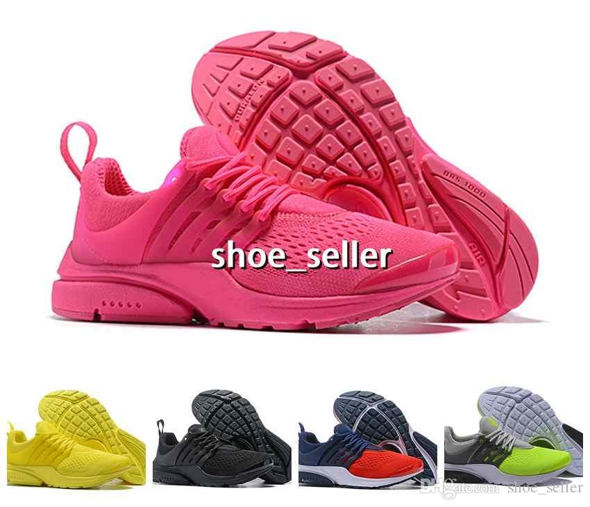 29c966c4696 2018 New Designer Presto 5 Ultra QS BR Breathe Running Sports Shoes Women  Mens Trainers Prestos Chaussures Yellow Pink Blue Sport Sneakers Running  Shoes ...