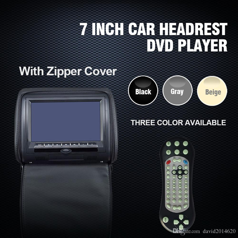 7 Inch Universal Car Headrest Monitor For Honda Toyota Automobile DVD Player With USB SD MP5 VCD CD MP3 MP4 JPEG Small Portable Dvd No