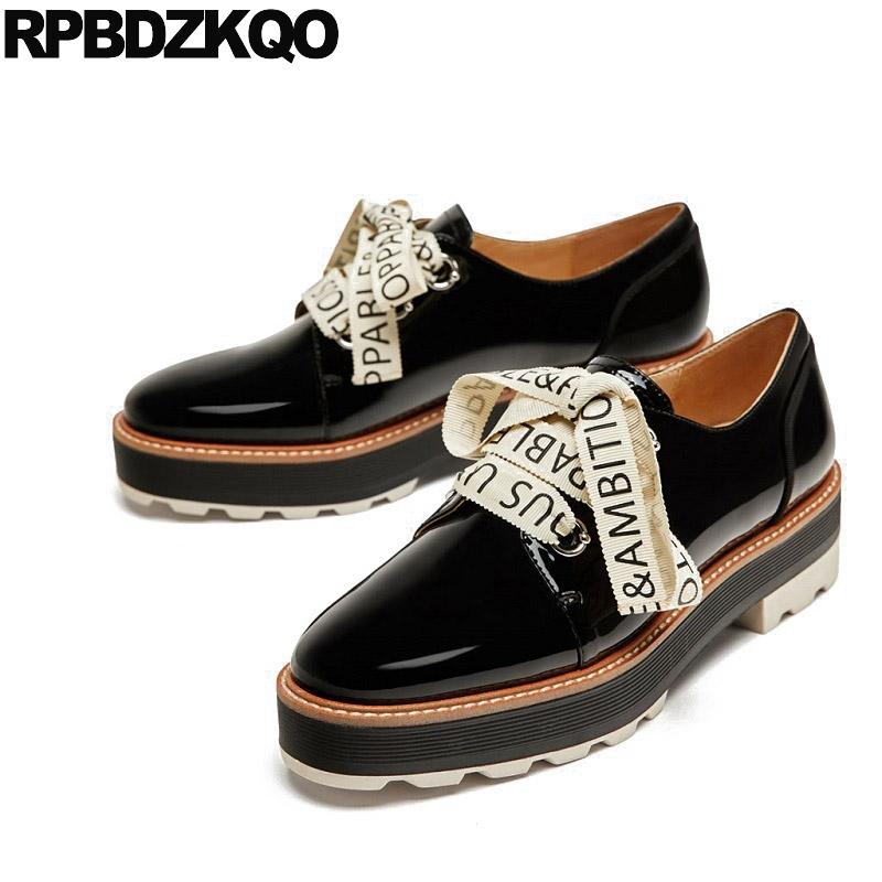 815f31cb133 Flats Lace Up Slip Resistant Platform Women Ladies Beautiful Shoes Creepers  Muffin Oxfords Black Thick Sole Spring Autumn Patent Slip On Shoes Mens  Loafers ...