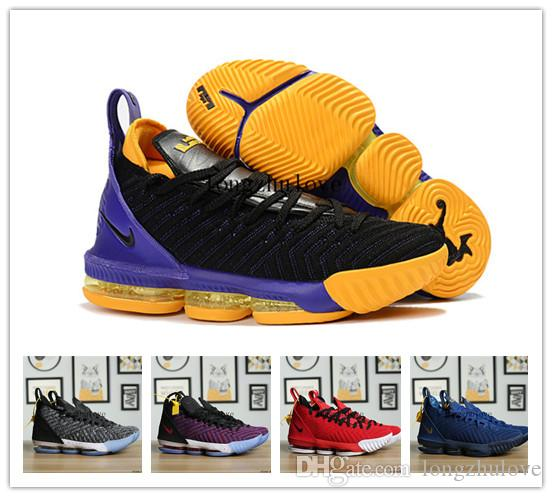 2276a0982156 ... coupon for 2018 new release lebron 16 fresh bred bhm lakers triple  black white red james