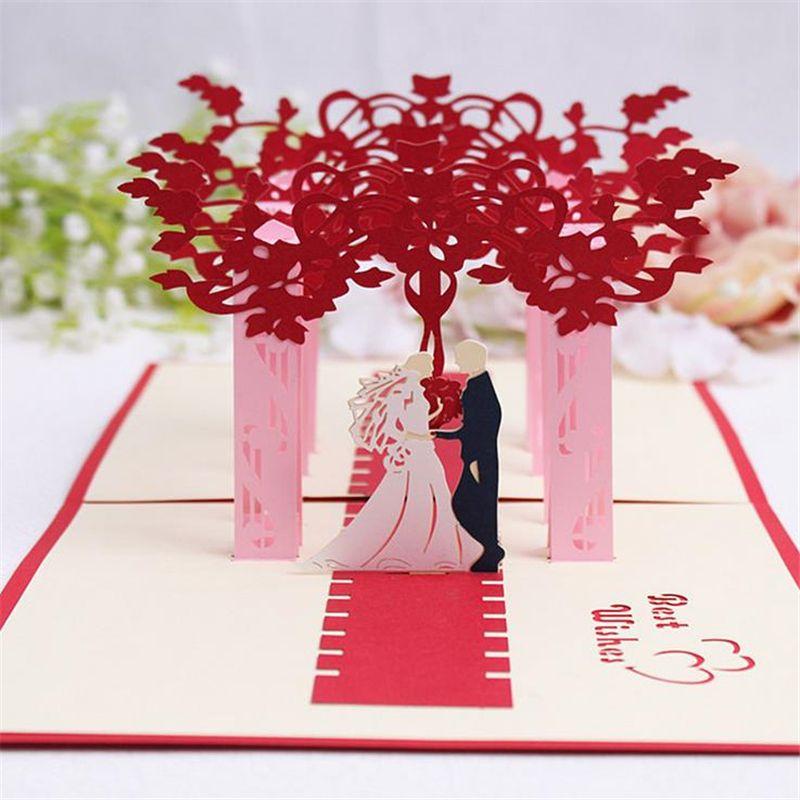 Karte Hochzeit.Doreenbeads Kreative 3d Karten Hochzeit Segen Karte Braut Und Bräutigam Papier Schneiden Diy Faltkarte Für Hochzeit Einladung