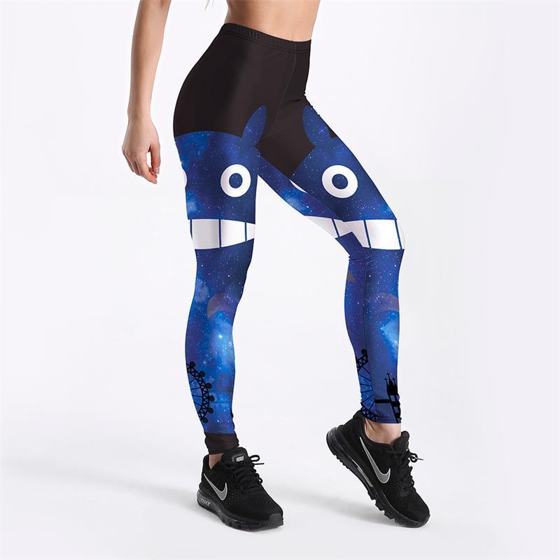 0a39c2e36428 Beliebte Blau Sexy Frauen Leggings Hosen Yoga Fitness Elastische  Strumpfhosen Mädchen Atmungs Digitaldruck Schöne Dame Gym Hosen S-4XL