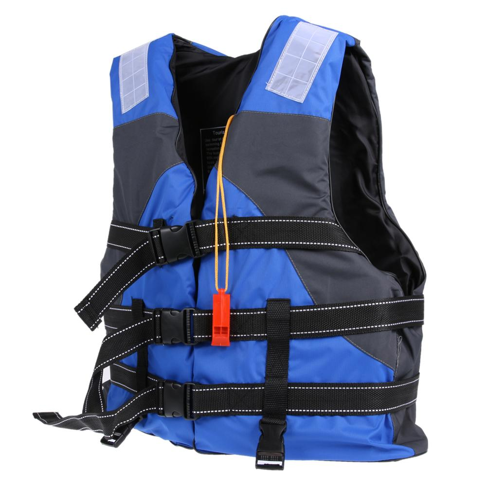 with Life Whistle Boat Work Outdoor Drifting Adult Life-saving Vest Waterproof Adjustable Reflective Jacket Safety Vest Camping & Hiking Safety & Survival