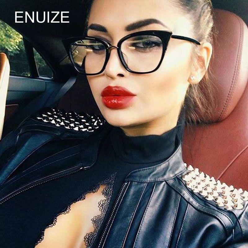 9938c87a23b 2019 Women Vintage Cat Eye Frame Plain Eyeglass Frame Optical Eyeglasses  Clear Lens Glasses For Women Oculos Feminino From Fashionkiss