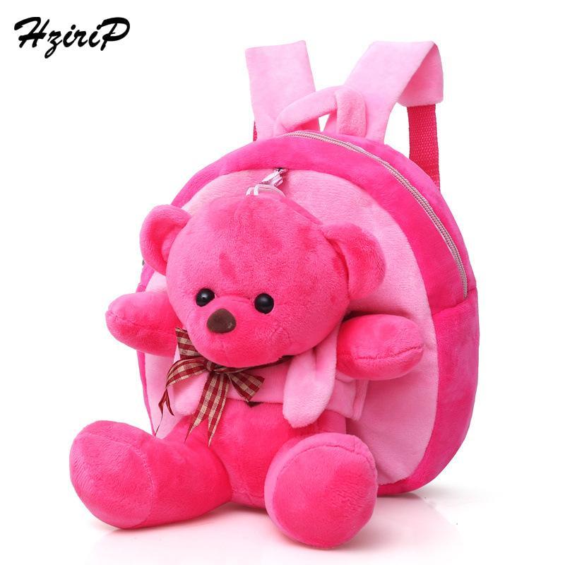 b15c147ae7 Hzirip 2018 Children Baby Cute Cartoon Bear School Bags Kids Plush Toy Backpacks  Mini Toddler Kindergarten Backpack Girls Boys Canada 2019 From Fkansis