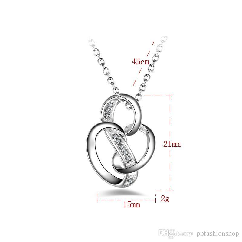 Ciondolo gioielli in argento Belle Ciondolo Ciondolo gioielli in argento 925 placcato collana collana regalo di moda Top Quality