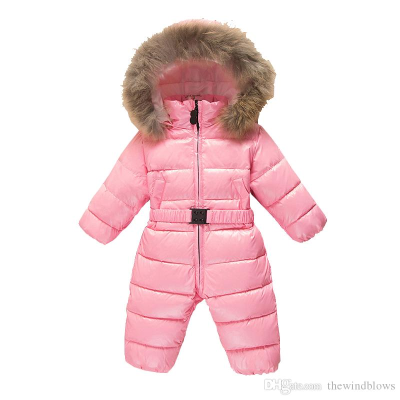 4b9a4e11a 2018 Down Baby Rompers Winter Thick Boys Costume Girls Warm Infant ...