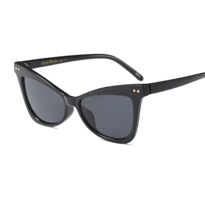 8297dc55c7b6 New Fashion Cat Eye Sunglasses Vintage Retro Women Wide Leg Brand ...